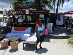 Hanging out Junakoo Beach in Nassau another famous hang out place  Tiki Bikini Hut