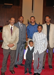 James son Clyde - grandsons Clyde Jr. Jamal- Theo and great grandsons Isaiah-Kareem
